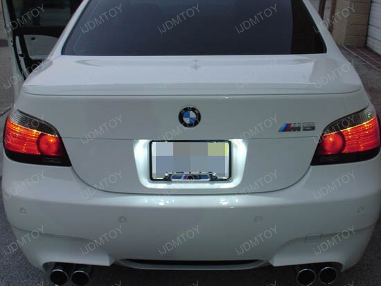 BMW - E60 - M5 - led - license - plate - lights - 2